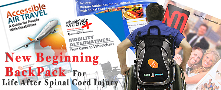 New Beginning BackPack. Tools and resources for life after spinal cord injury.